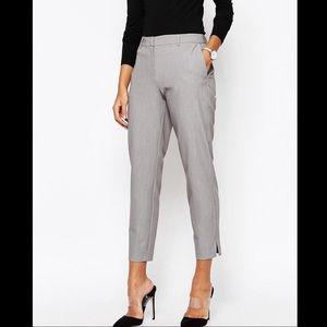 ASOS Gray Slim Leg Crop Pants
